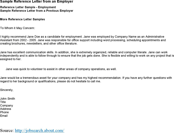 Employment Recommendation Letter Examples from www.speedytemplate.com