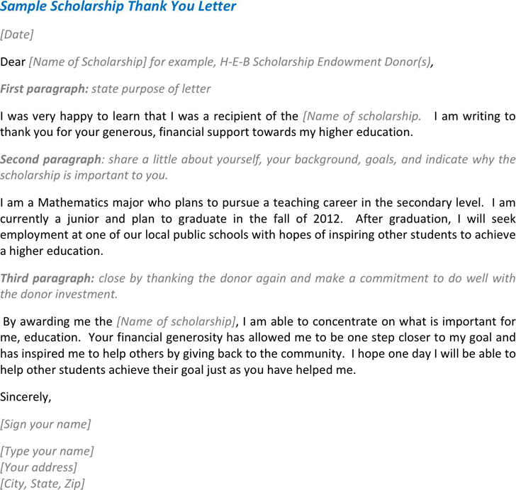 Free sample scholarship thank you letter pdf 78kb 1 pages expocarfo