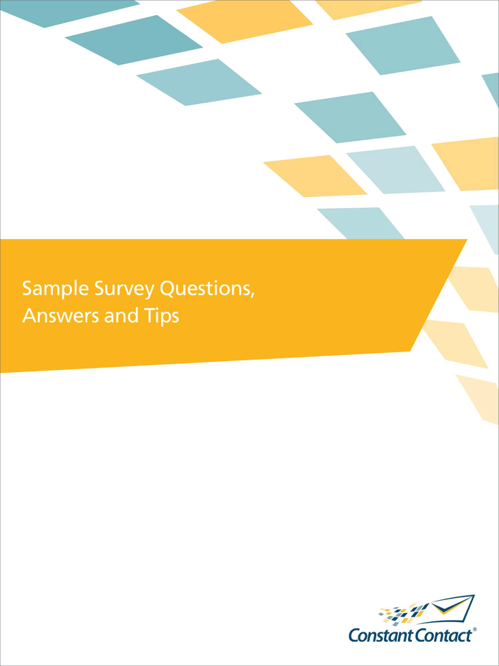 Sample Survey Questions 1