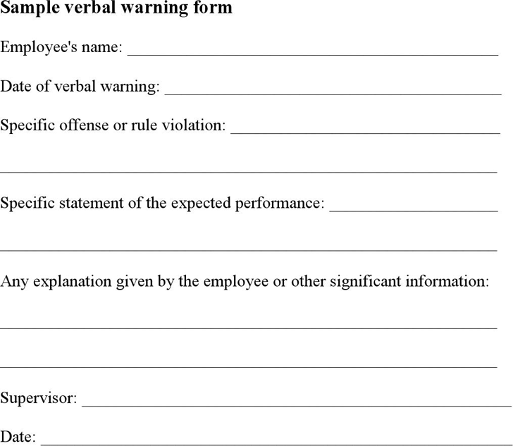 Fine employee warning template gallery example resume ideas unusual employee warning template photos example resume ideas altavistaventures Image collections