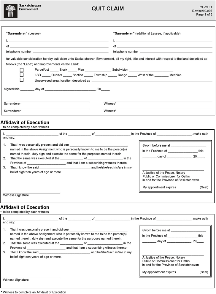 Quitclaim Deed Template Free Template Downloadcustomize And Print
