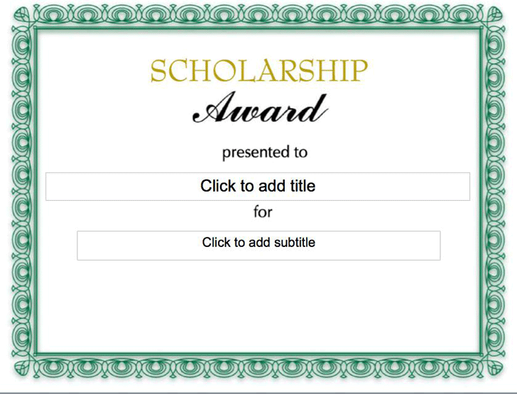 Scholarship Certificate - Template Free Download | Speedy Template