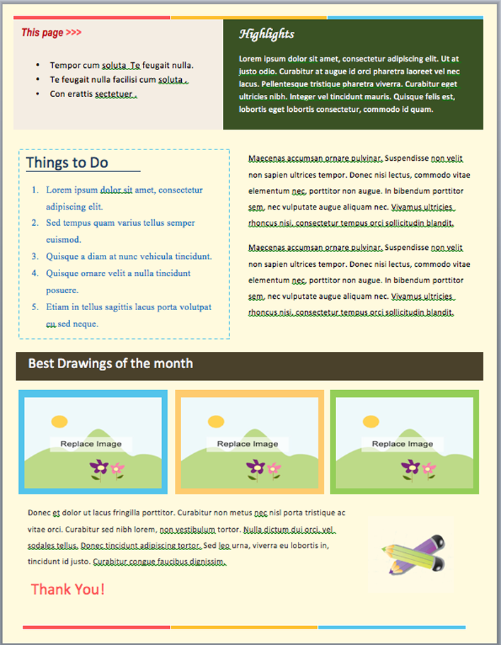 2 Page Newsletter Template from www.speedytemplate.com