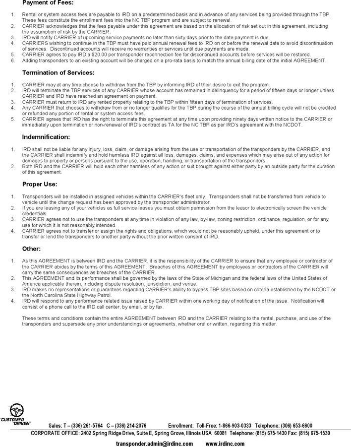 Free Service Agreement Template - PDF | 295KB | 2 Page(s) | Page 2