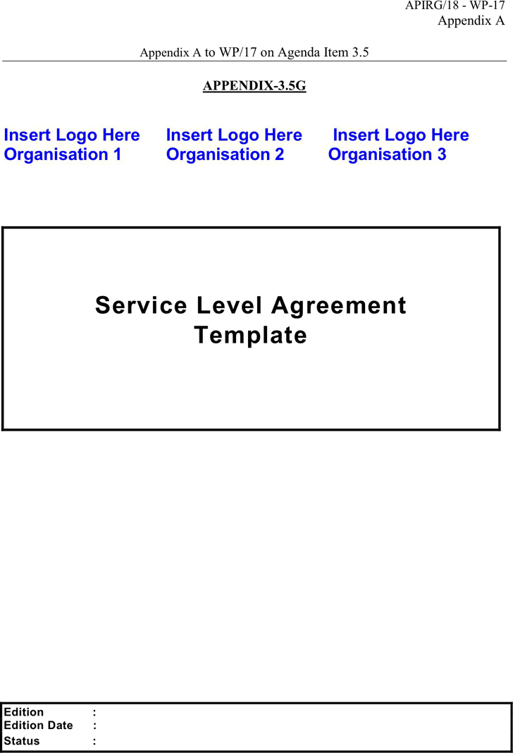 Service Level Agreement - Template Free Download | Speedy Template