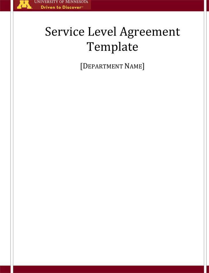Free Service Level Agreement Template - doc | 124KB | 8 Page(s)