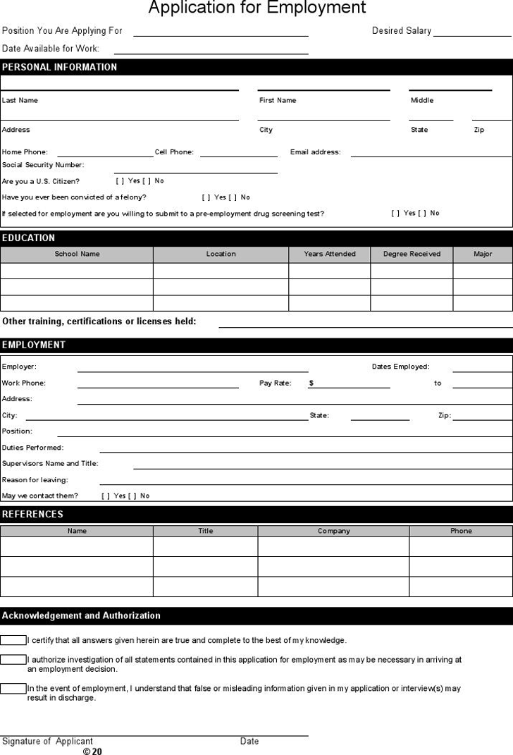simple-job-application-3-1 Job Application Form Reason For Leaving on free generic, part time, sonic printable, big lots, blank generic,