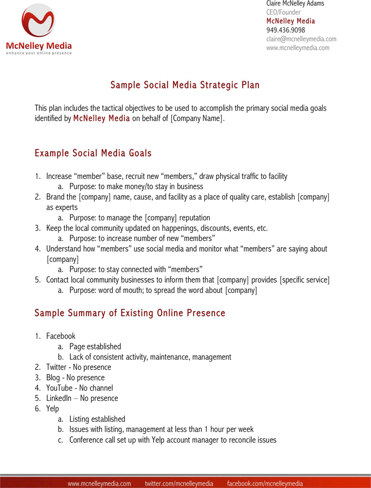 Social Media Strategy Template - Template Free Download | Speedy ...