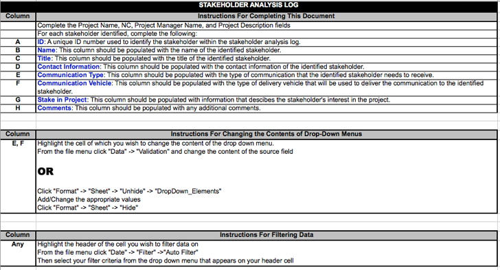 Stakeholder Analysis Template - Template Free Download | Speedy Template