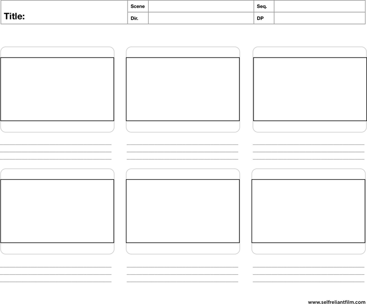 Free Storyboard Template Pdf 19kb 1 Pages