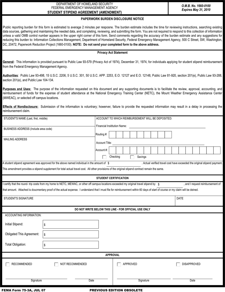 Stipend Agreement Image Collections Agreement Letter Format