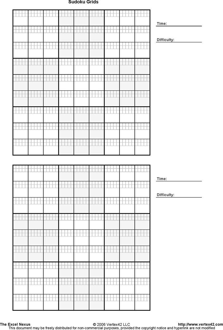 image regarding Printable Sudoku Grid identified as Printable Sudoku Grids - Template Absolutely free Down load Fast