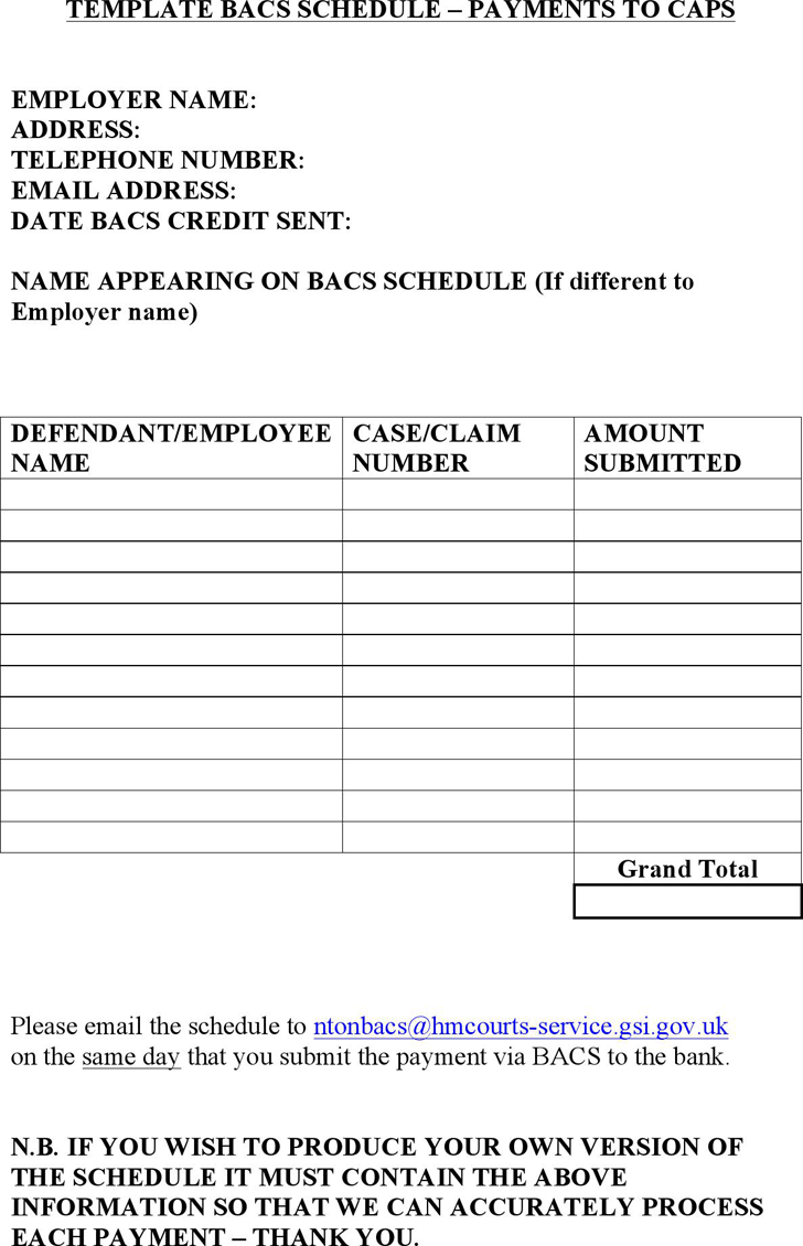 Payment Schedule Template Template Free Download – Telephone Number Template