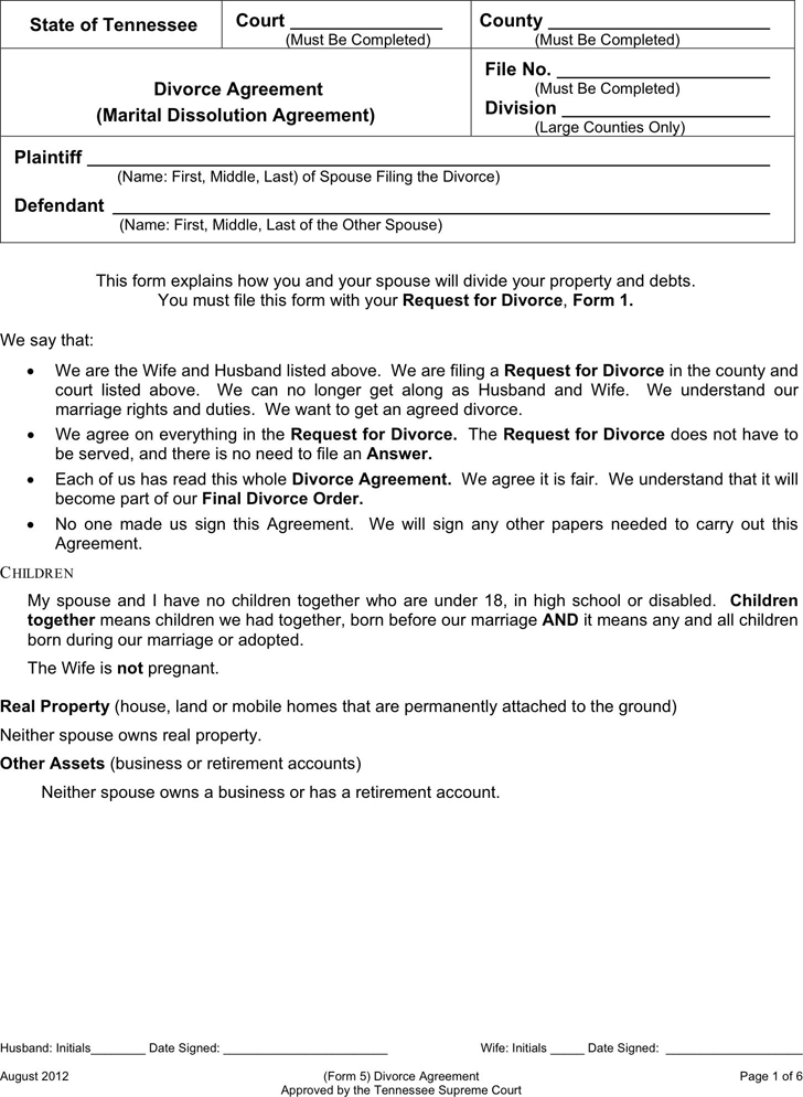 Separation Agreement Template - Template Free Download | Speedy Template
