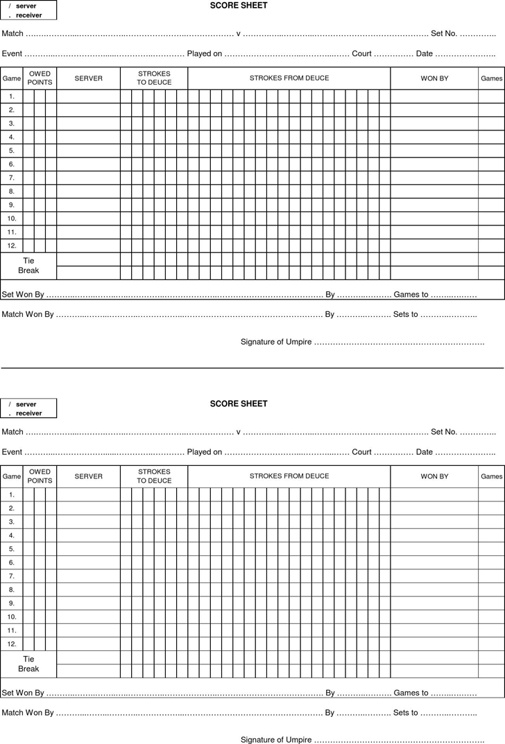 speed dating score sheets
