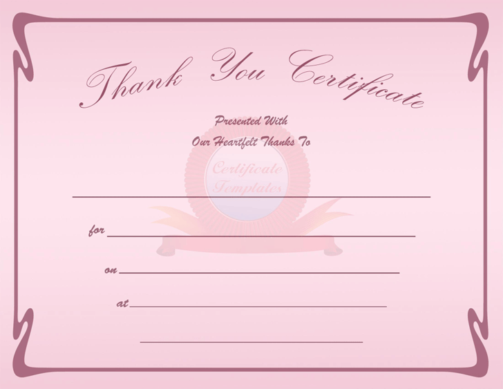 Thank You Certificate 2