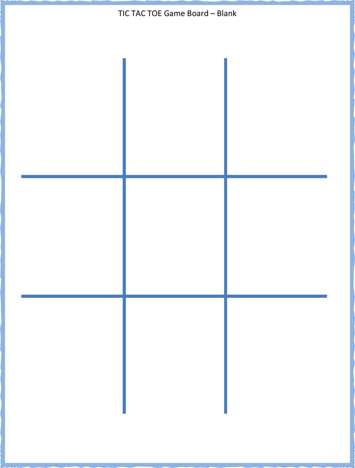 Tic tac toe template template free download speedy for Tic tac toe menu template