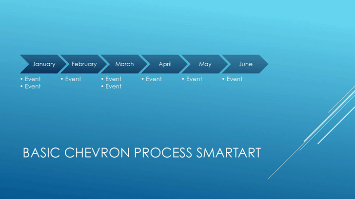 Timeline (Blue Horizontal Chevrons, Widescreen)