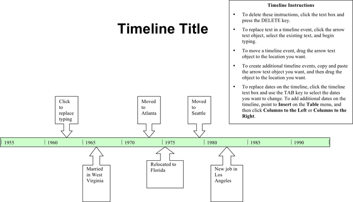 Simple Timeline Template - Template Free Download | Speedy