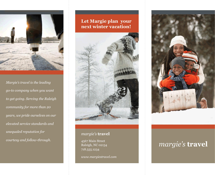 Free TriFold Travel Brochure Template Potx KB Pages - Travel brochure template