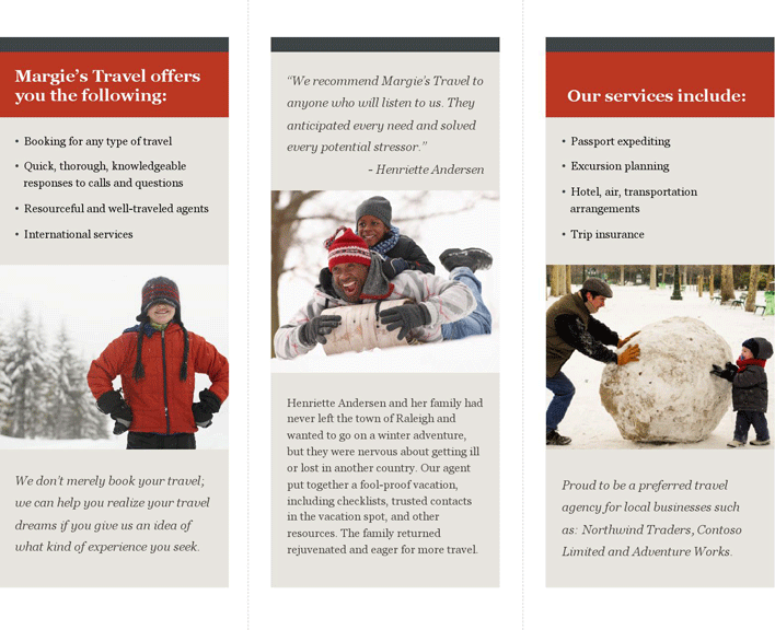Free Tri-Fold Travel Brochure Template - potx | 488KB | 2