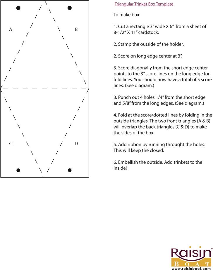 Free Triangular Trinket Box Template Pdf 238kb 1 Pages
