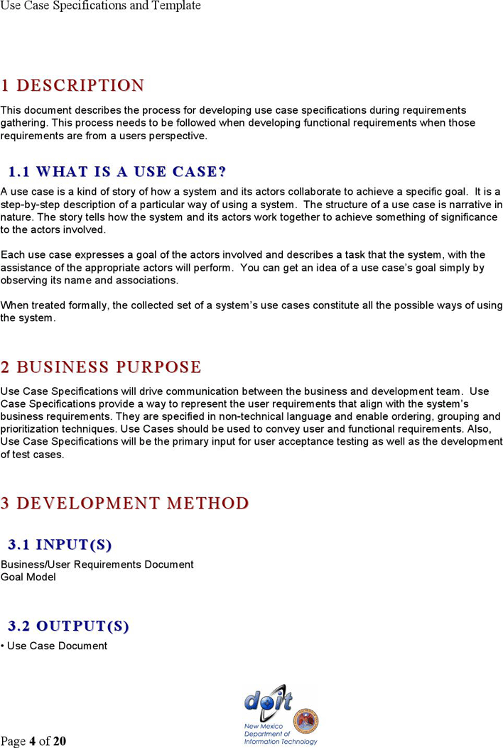 Use case narrative template doc choice image template for Use case narrative template doc