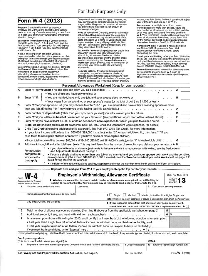 w4 form utah  Free Utah Form W-9 (9) - PDF | 593KB | 9 Page(s)