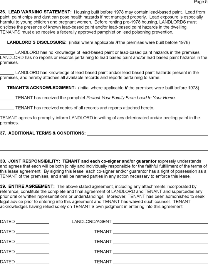 Free Utah Month To Month Rental Agreement Pdf 132kb 5