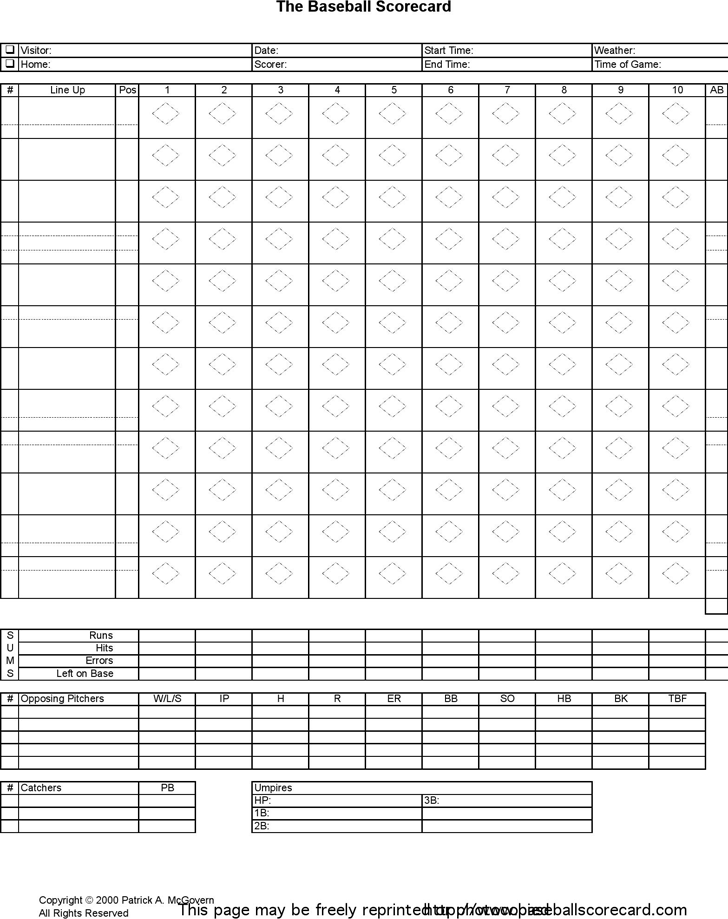 baseball scorecard excel