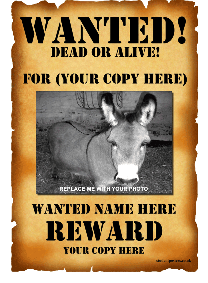 Free Wanted Poster Template ppt 2114KB 1 Pages