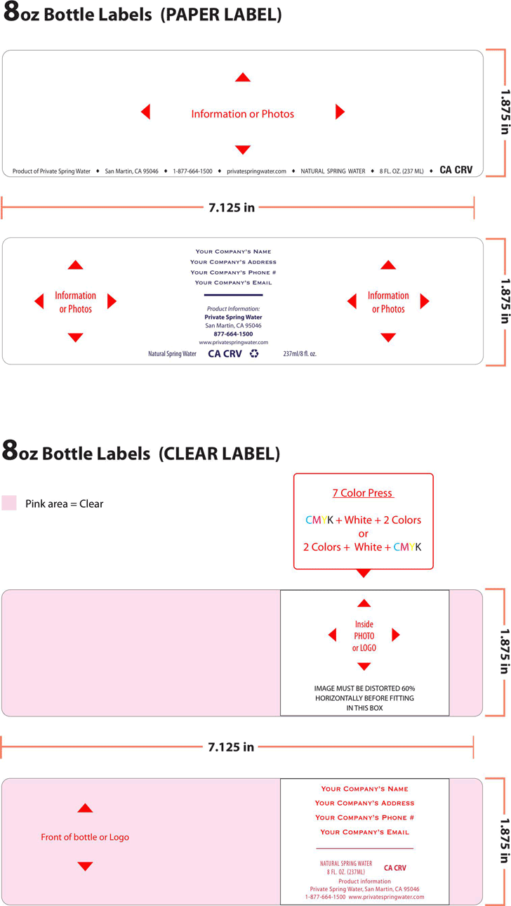 Free Water Bottle Label Template - PDF | 218KB | 1 Page(s)