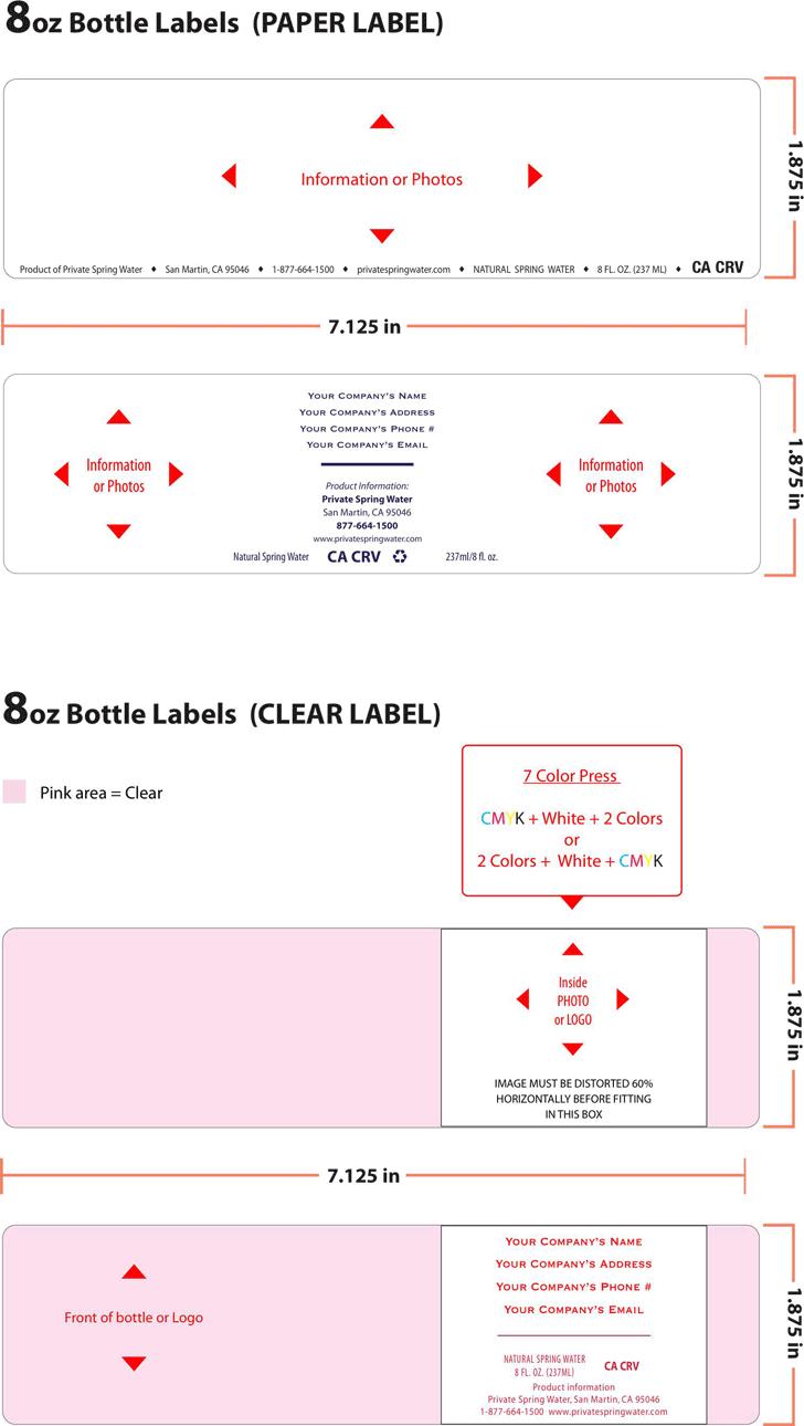 water bottle label template 1