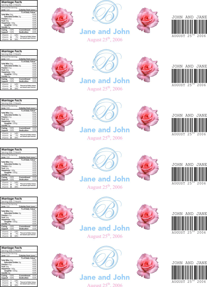 water bottle label template 3