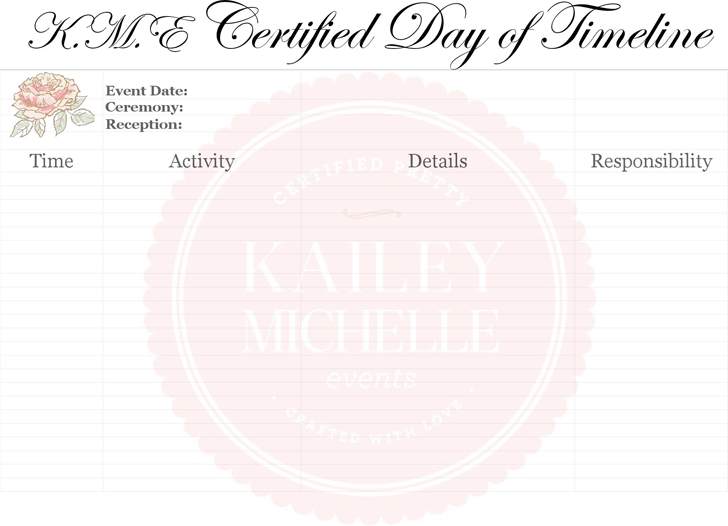 Wedding Timeline Template Template Free Download Speedy Template - Day of wedding timeline template free
