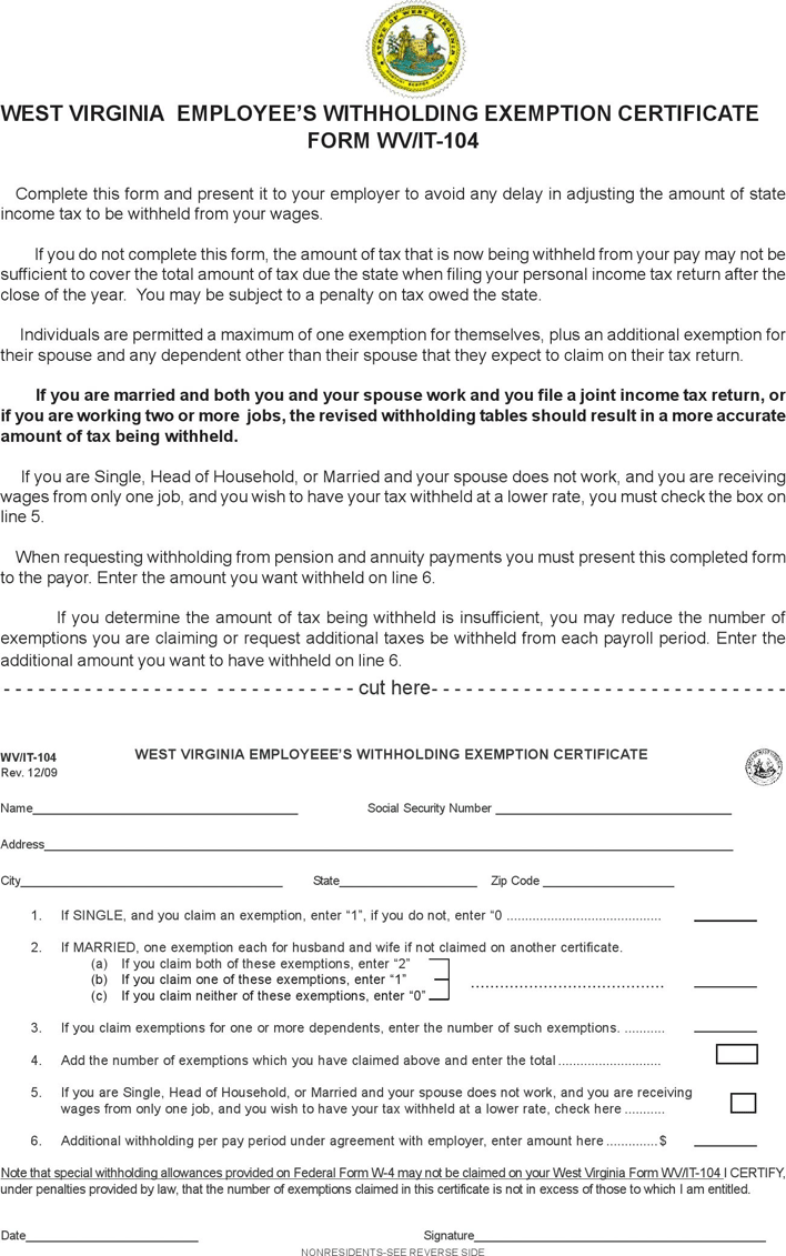 State tax withholding forms template free download speedy template west virginia form wvit 104 falaconquin