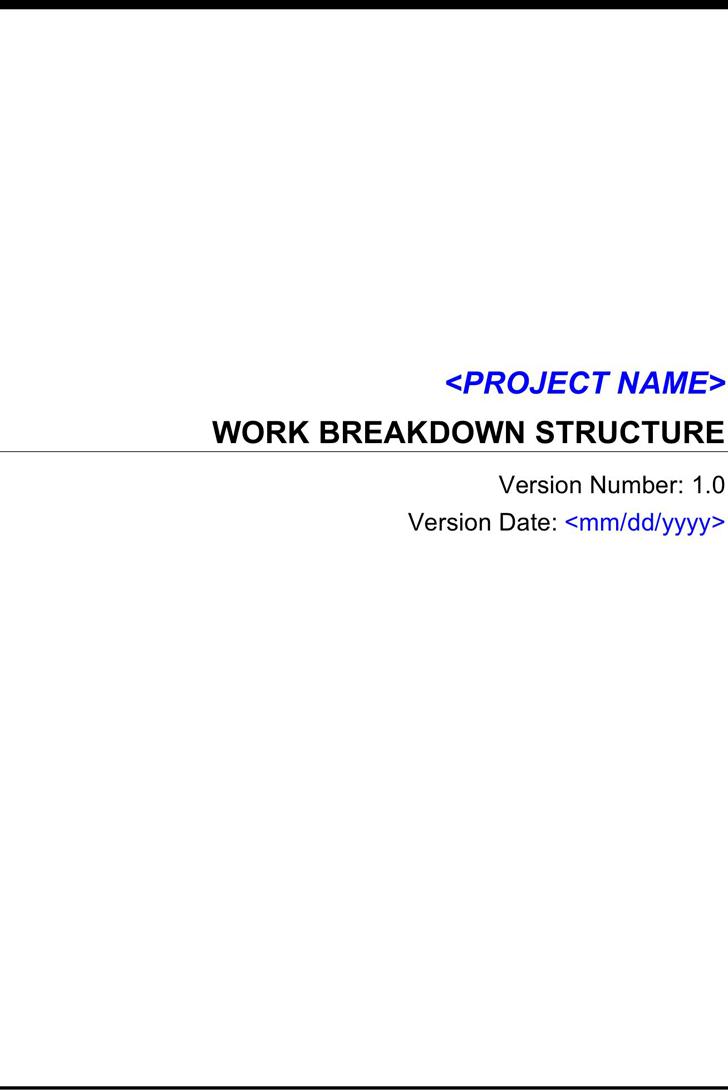 Work Breakdown Structure Template - Template Free Download | Speedy
